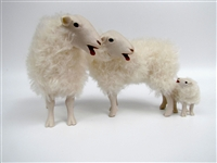 Colin's Creatures Handmade Sheep Figurines, Kempen Heath Family Baaing