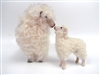 Handmade Mother's Day Sheep by Colin's Creatures, Lincoln Longwool Ewe and Lamb Kissing
