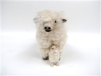 Colin's Creatures Handmade Sheep Figures, Lincoln Longwool Ewe Straddling Lamb