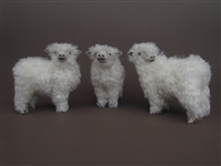 Colin's Creatures Handmade Sheep figures for Christmas, Lincoln Longwool Flock