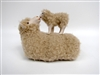 Polish Merynos Polski Ewe with Lamb on her back, Handmade sheep figures by Colin's Creatures