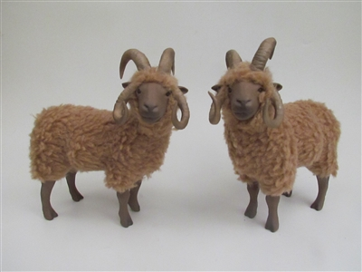 Colin's Creatures Handmade Porcelain Sheep Figurines, Moorit Flock