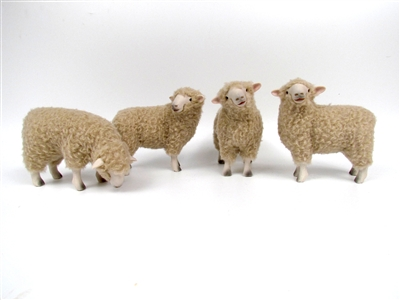 Colin's Creatures Handmade Christmas Sheep, Romney Flock