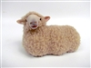 Colin's Creatures Handmade Sheep Figure, Romney Sheep Lying
