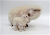 Handmade Sheep Figures by Colin's Creatures, Rya Ewe Nose to Nose with Lamb, Long