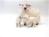 Colin's Creatures Handmade Mother's Day Sheep, Rya Ewe with Twins