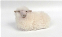 Handmade Porcelain sheep figures by Colin's Creatures, Rya Sheep Lying