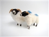 Handmade Porcelain Sheep Figurines by Colin's Creatures, Scottish Blackface Ewe and Lamb Marked