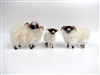 Colin's Creatures Handmade Holiday Sheep, Scottish Black face Family
