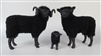 Colin's Creatures Handmade Porcelain Sheep figures, Shetland Black Family