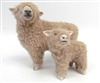 Handmade Babydoll Sheep by Colin's Creatures, Southdown Ewe Standing with Large Lamb