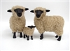 Colin's Creatures Hand made Porcelain Sheep Figurines, Oxford Sheep Family