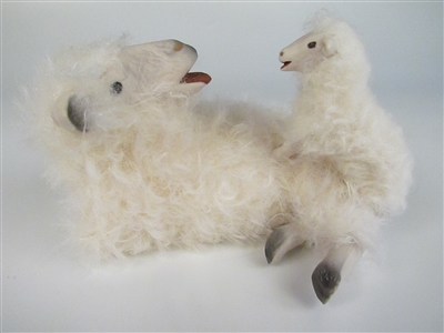 Colin's Creatures Handmade porcelain sheep figurines, Cotswold Ewe and  Lamb Communication