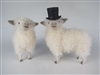 Colin's Creatures Handmade Porcelain Sheep Figures, Cotswold Bride and Groom