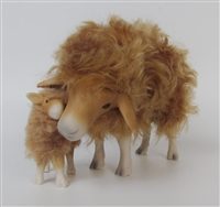Colin's Creatures Handmade Porcelain Sheep Figurines, Brigasca Sheep
