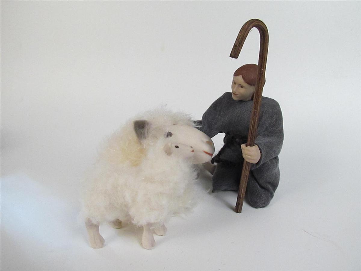 Little Shepherd Boy With Sheep