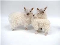 Colin's Creatures Cheviot Sheep Family of Handmade Pottery Sheep Sculpture