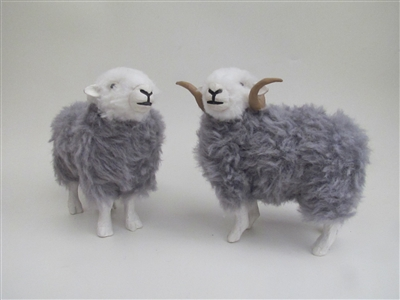Colin's Creatures Handmade Lake District  Sheep Figurines, Herdwick Sheep Family