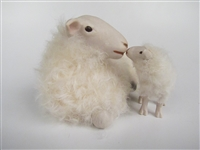 Colin's Creatures Porcelain Animal Figurines, Kempen Heath Ewe and Lamb Snuggling