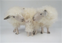 Colin's Creatures Handmade Porcelain Sheep Figures, Cotswold Proud Family