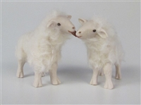 Colin's Creatures Handmade Porcelain Sheep Sculptures,  Welsh Mountain Ewes