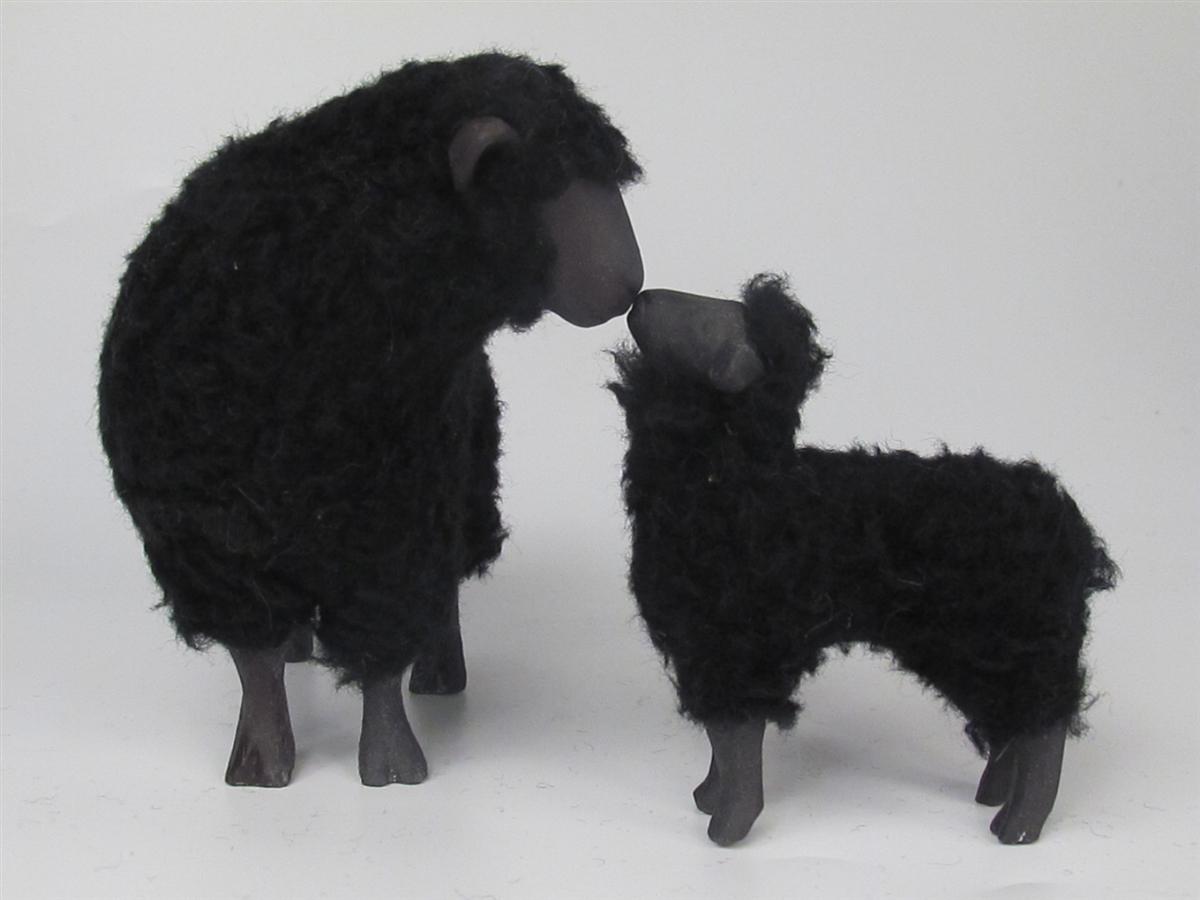 Black Sheep Ewe And Lamb