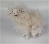 Colin's Creatures Handmade mother's Day sheep Figures, Sarda Ewe Protecting Lamb