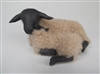 Colin's Creatures Mothers Day Sheep Figurines, Suffolk Ewe Lying Nose to Nose with Lamb
