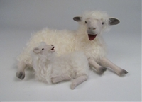 Colin's Creatures Sheep Figurines, Cotswold Ewe Kissing  Lamb