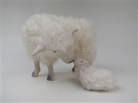 Colin's Creatures sheep Sculpture, Sniffing a Newborn Lamb
