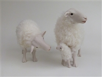 Handmade Sheep Figurines by Colin's Creatures, Kempen Heath Family Straddling