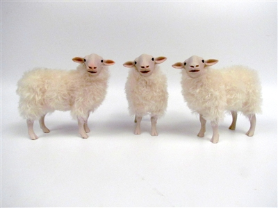 Handmade Life Like Sheep Figurines by Colin's Creatures, Kempen Heath Flock