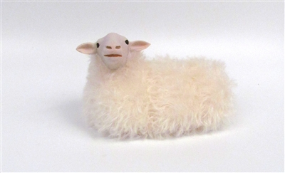 Colin's Creatures Handmade Life like sheep figures, Kempen Heath Lying Sheep