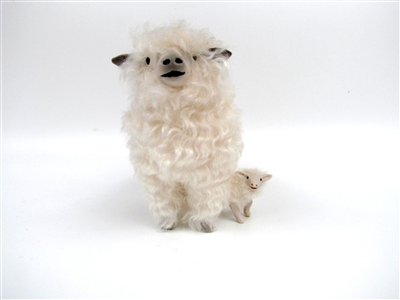 Colin's Creatures Handcraft Sheep for Mother's Day,  Lincoln Longwool Ewe Protecting Lamb