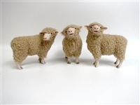 Colin's Creatures Handmade Sheep Figurines, Merynos Polski Flock