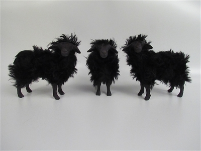 Handmade Sheep Figurines by Colin's Creatures, Italian Nera di Arbus Flock
