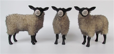 Handmade Sheep Figurines by Colin's Creatures, Russian Romanov Flock