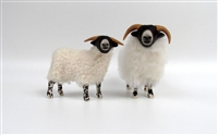 Colin's Creatures Scottish Mother's Day Sheep Figurines, Scottish Blackface Ewe and Lamb I