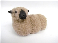 Handmade Porcelain Sheep Figures, Shropshire Sheep Lying