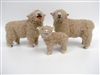 Colin's Creature Handmade sheep Figures, Southdown Family, Babydoll sheep