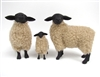 Handmade Colin's Creatures Christmas Sheep Figurines, Suffolk Family