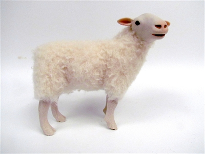 Colin's Creatures Hand Made German Sheep Figures,Weisse gehornte Heidschnucke Flock