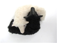 Colin's Creatures Handmade Porcelain Lambs, Galway Black and White Ying and Yang Lamb Twins