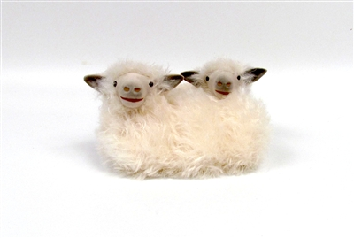 Colin's Creatures Cotswold  Spooning Twins Sheep Figures
