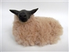 Colin's Creatures Handmade Sheep Figurines, Lying Bleu de Maine