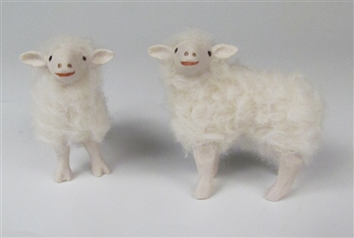 Colin's Creatures Handmade Porcelain Lambs,  Bottlefed Lambs - Romney