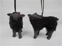 Black Lamb Ornament