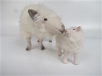 Colin's Creatures Sheep Figurines in Porcelain Wool and Mohair