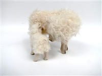 Colin's Creatures Handmade Sheep Figurines, Bovska Ewe with Nursing Lamb