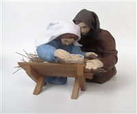 Kneeling Nativity Family